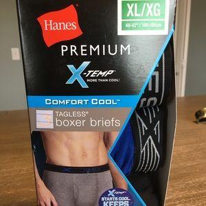 Hanes XTEMP boxer briefs